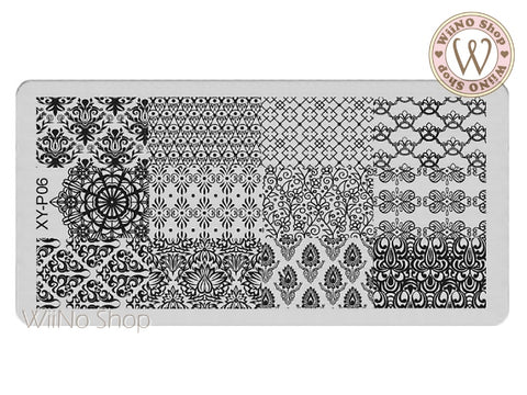 XY-P06 Nail Art Stamping Plate Template