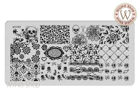 XY-P07 Nail Art Stamping Plate Template