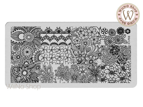 XY-P08 Nail Art Stamping Plate Template