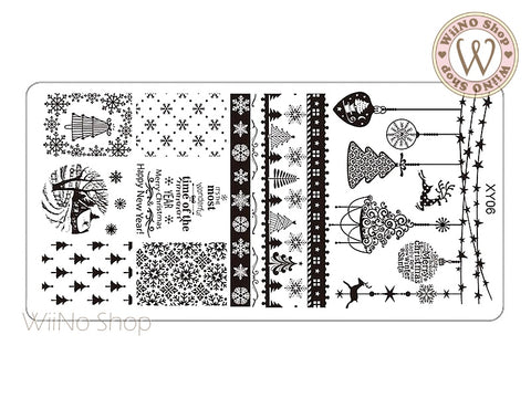 Christmas Nail Art Stamping Plate Template (XY06)