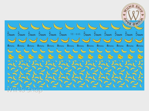 Banana Water Slide Nail Art Decals - 1pc (YE-445)