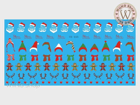 Christmas Accessories Water Slide Nail Art Decals - 1pc (YE-455)