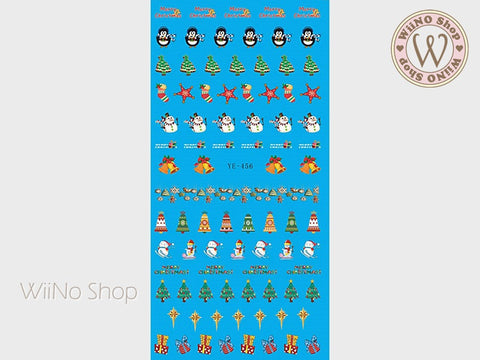 Christmas Elements Water Slide Nail Art Decals - 1pc (YE-456)