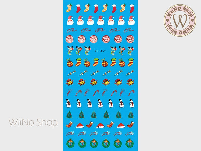 Christmas Elements Water Slide Nail Art Decals - 1pc (YE-457)