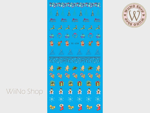 Christmas Elements Water Slide Nail Art Decals - 1pc (YE-458)
