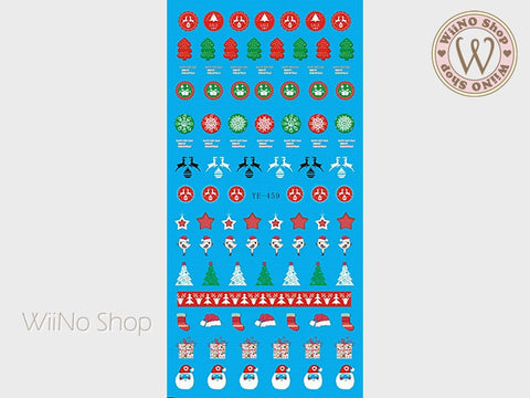 Christmas Elements Water Slide Nail Art Decals - 1pc (YE-459)
