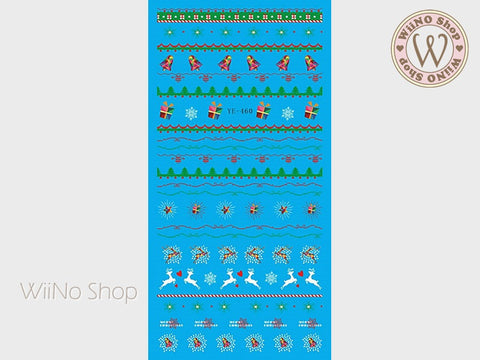 Christmas Elements Water Slide Nail Art Decals - 1pc (YE-460)