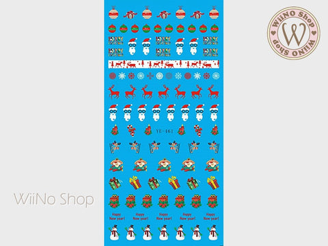Christmas Elements Water Slide Nail Art Decals - 1pc (YE-461)