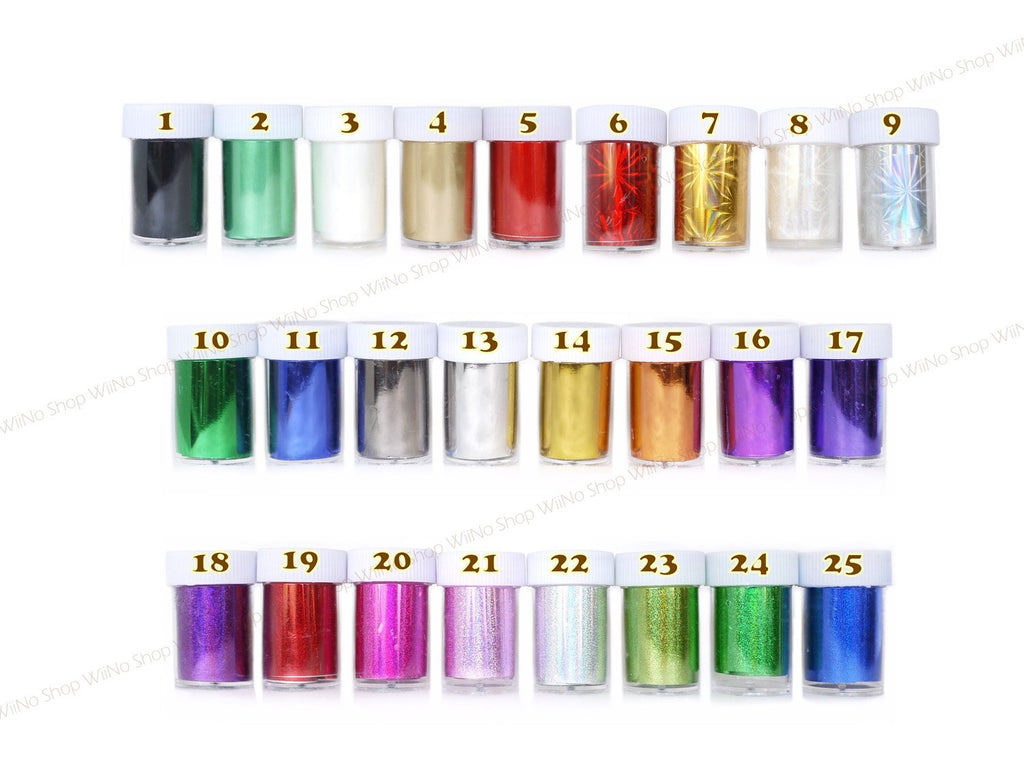 Transfer Foil Nail Art Decoration - 1 pc (1-25)