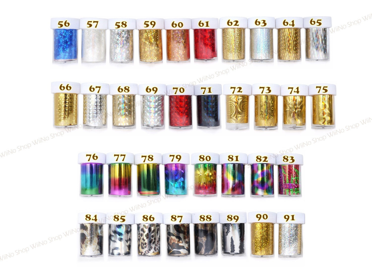 Transfer Foil Nail Art Decoration - 1 pc (56-91) – WiiNo Shop