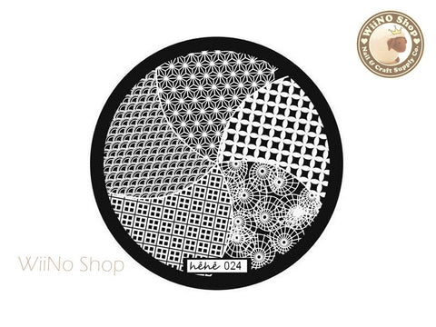 hehe024 Nail Art Stamping Plate Template
