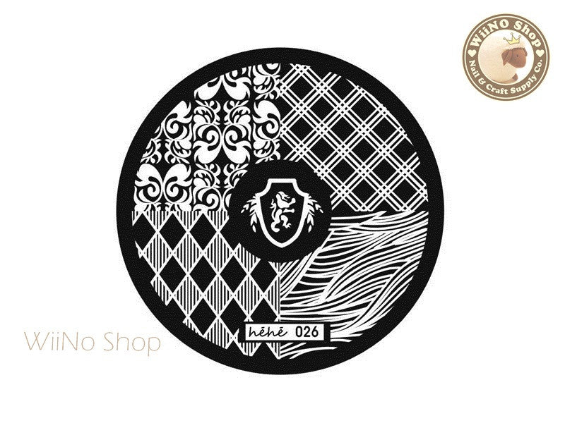 hehe026 Nail Art Stamping Plate Template