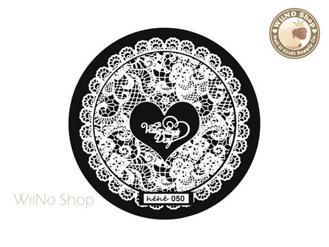 hehe050 Nail Art Stamping Plate Template