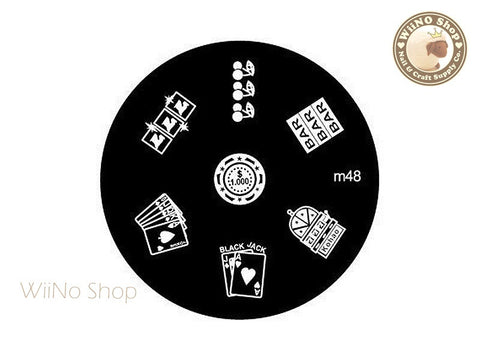m048 Nail Art Stamping Plate Template