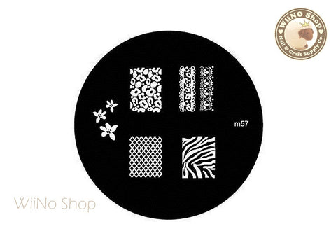 m057 Nail Art Stamping Plate Template