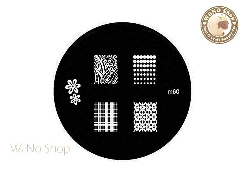 m060 Nail Art Stamping Plate Template