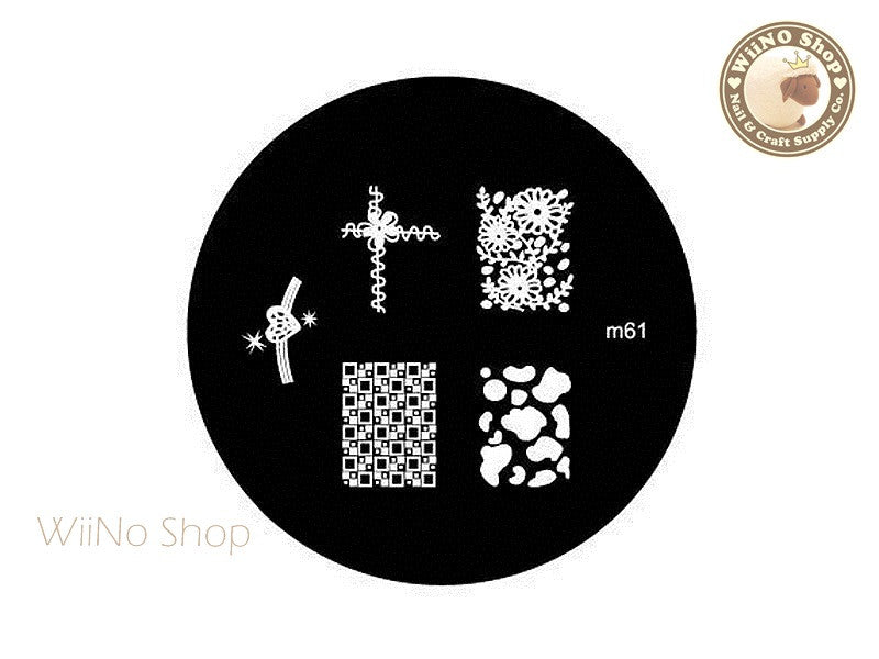 m061 Nail Art Stamping Plate Template