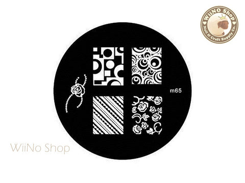 m065 Nail Art Stamping Plate Template