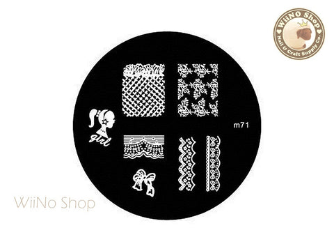 m071 Nail Art Stamping Plate Template