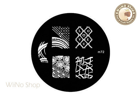 m072 Nail Art Stamping Plate Template