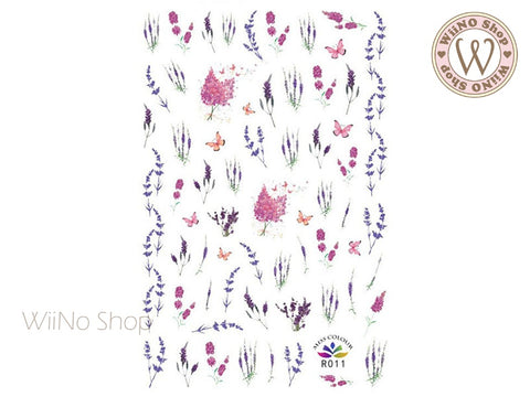 Lavender Adhesive Nail Art Sticker - 1 pc (R011)