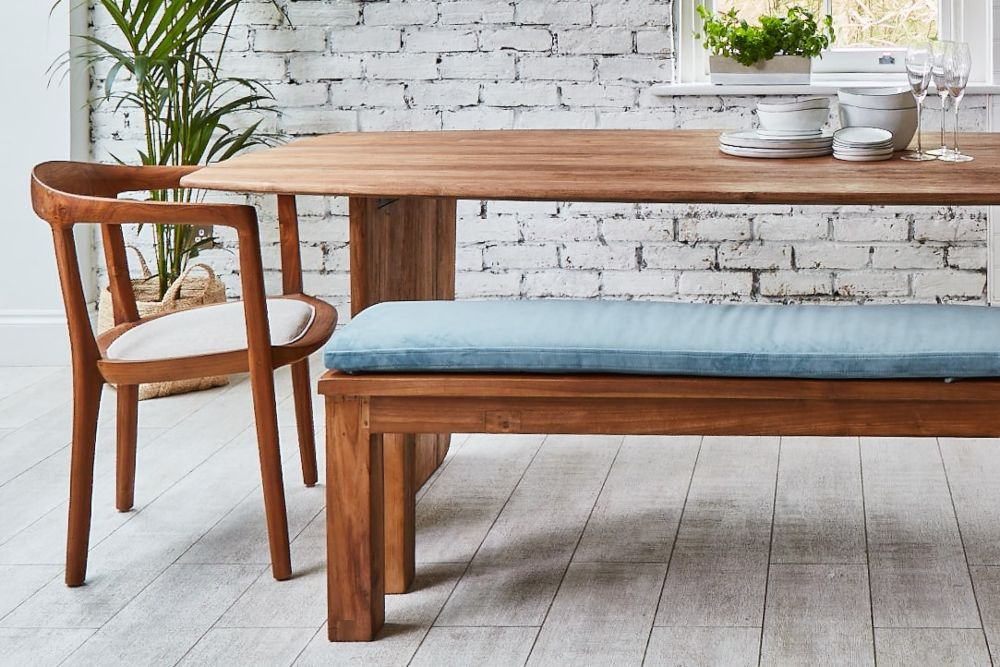Why you need a wooden bench zoomed in upholstered bench