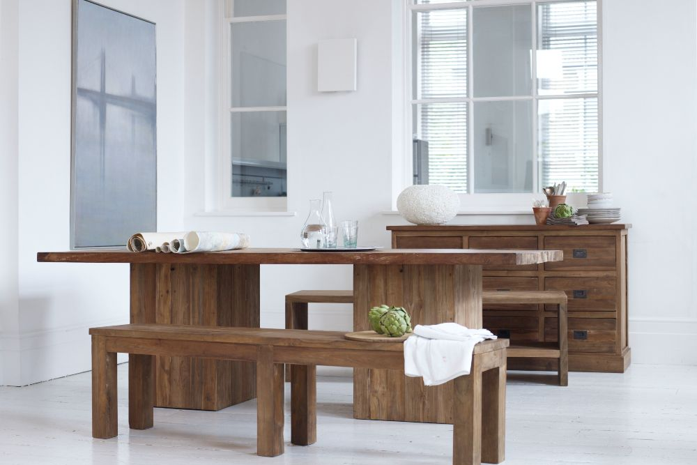 how to industrial interiors dining table