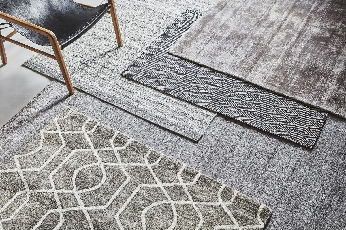 Layering rugs for texture Scandi style