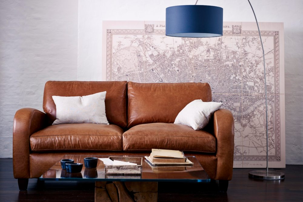 using natural materials in your home oscar leather sofa
