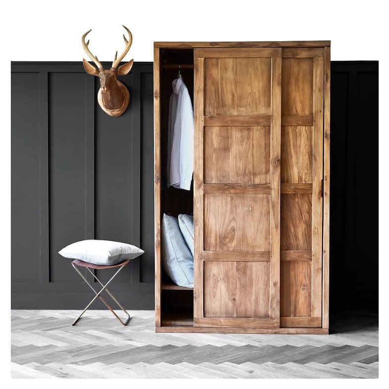 Raft Hudson wardrobe and stag head - Why is reclaimed teak so good for furniture