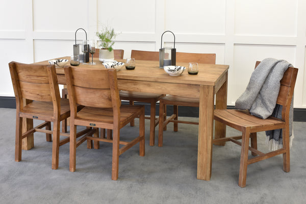 Unmilled Lifestyle Dining Table & Rhode Chairs Bundle