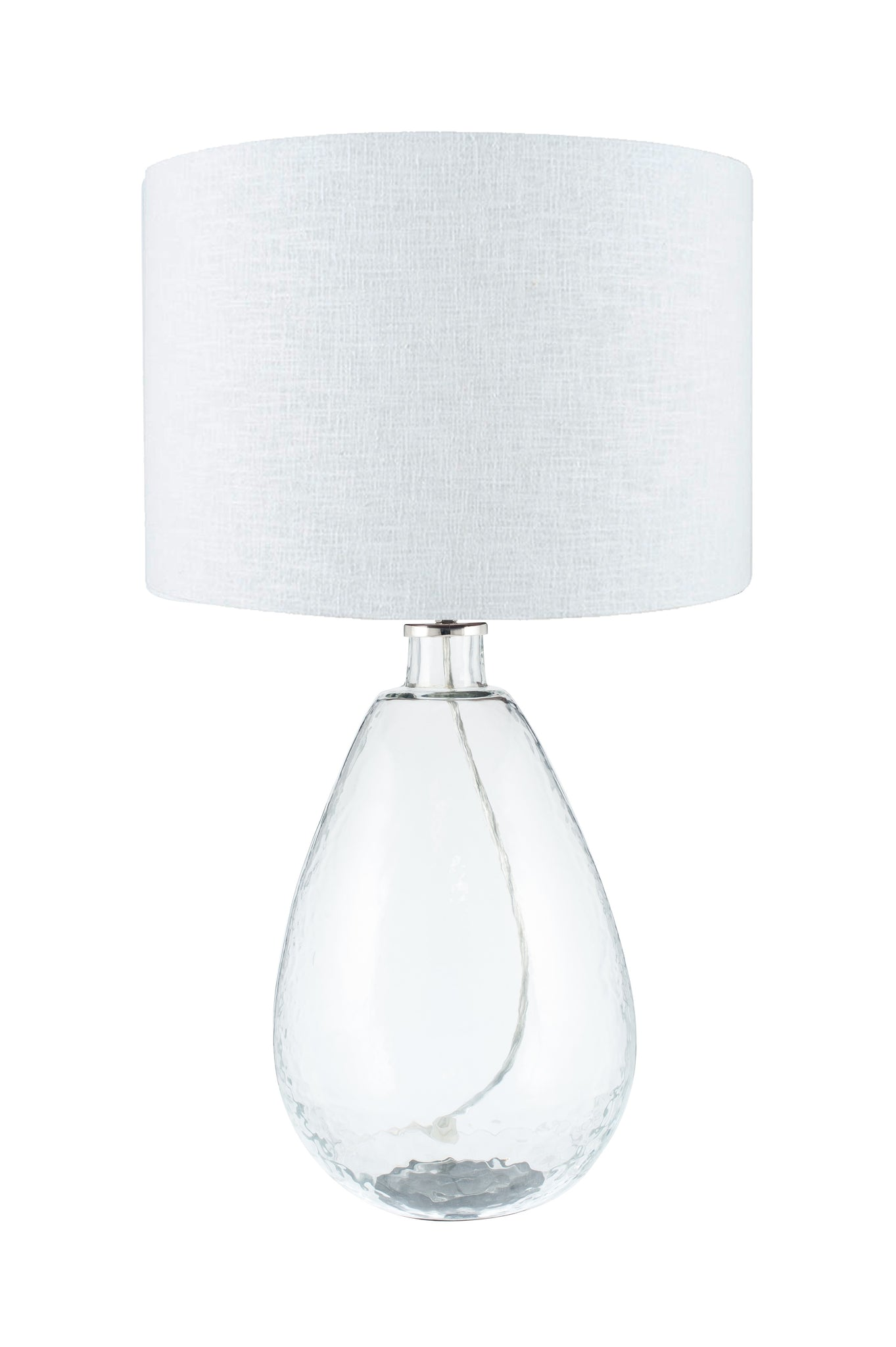 Picture of: Benson Table Lamp Tall Clear Glass Raft Furniture