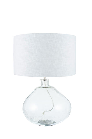 Benson Table Lamp - Wide Clear Glass