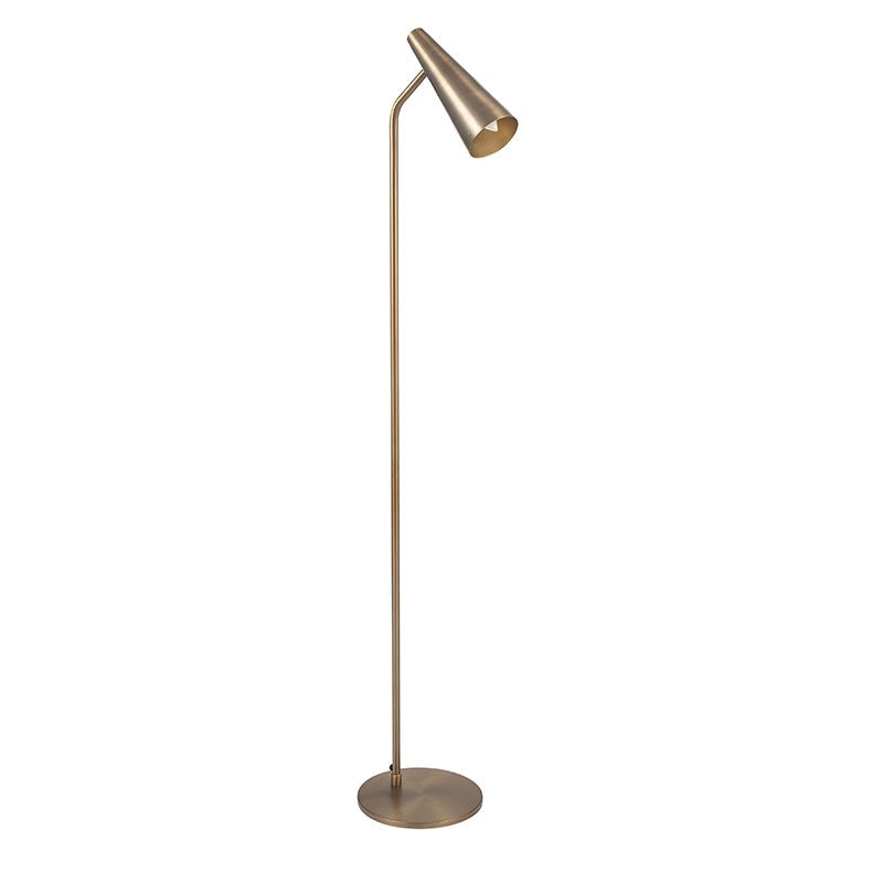 Domme Floor Lamp - Antique Brass