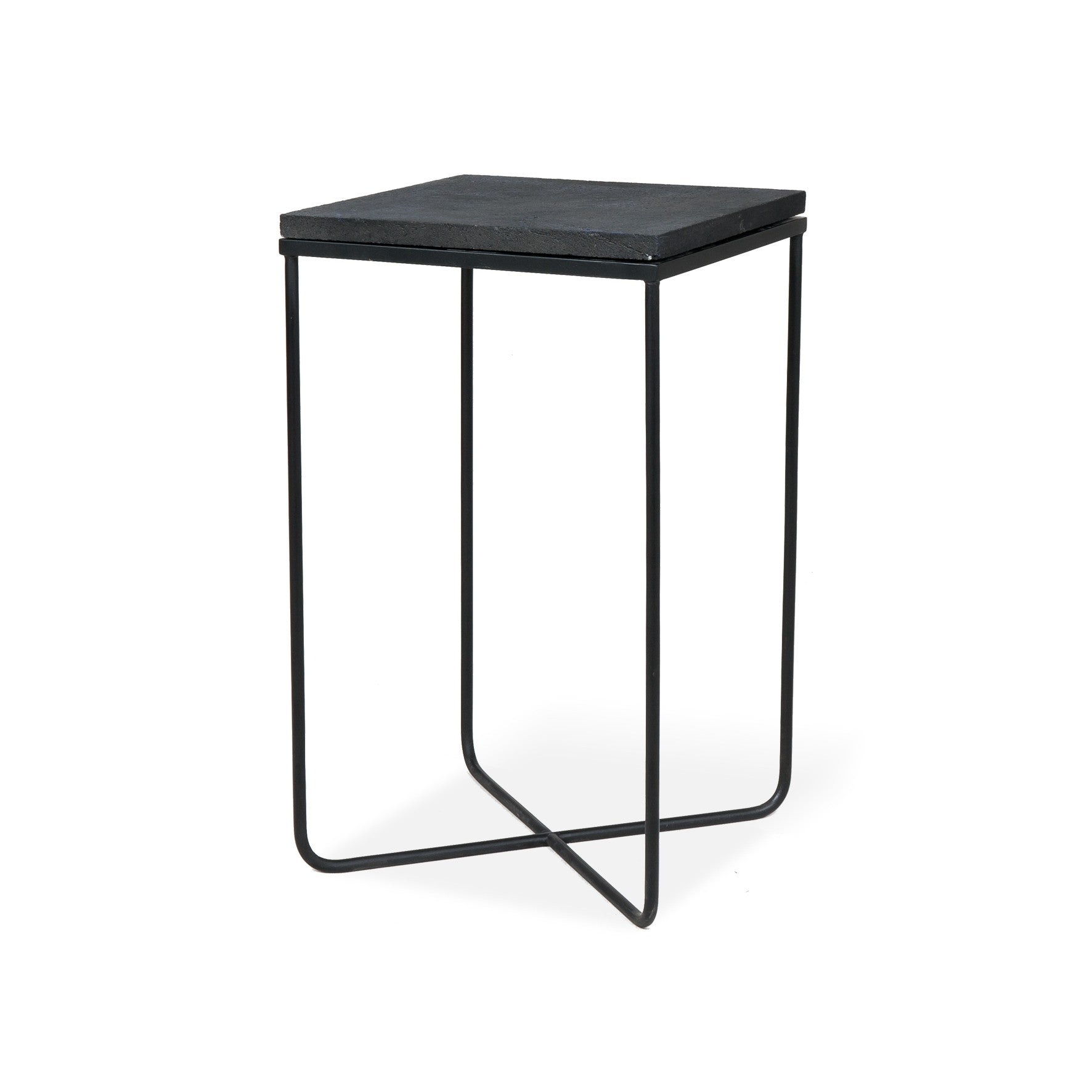 Lava Stone Side Table