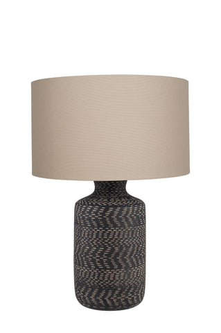 Nalpur Table Lamp - Black Stoneware
