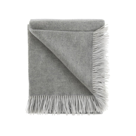 Lambswool Herringbone Throw
