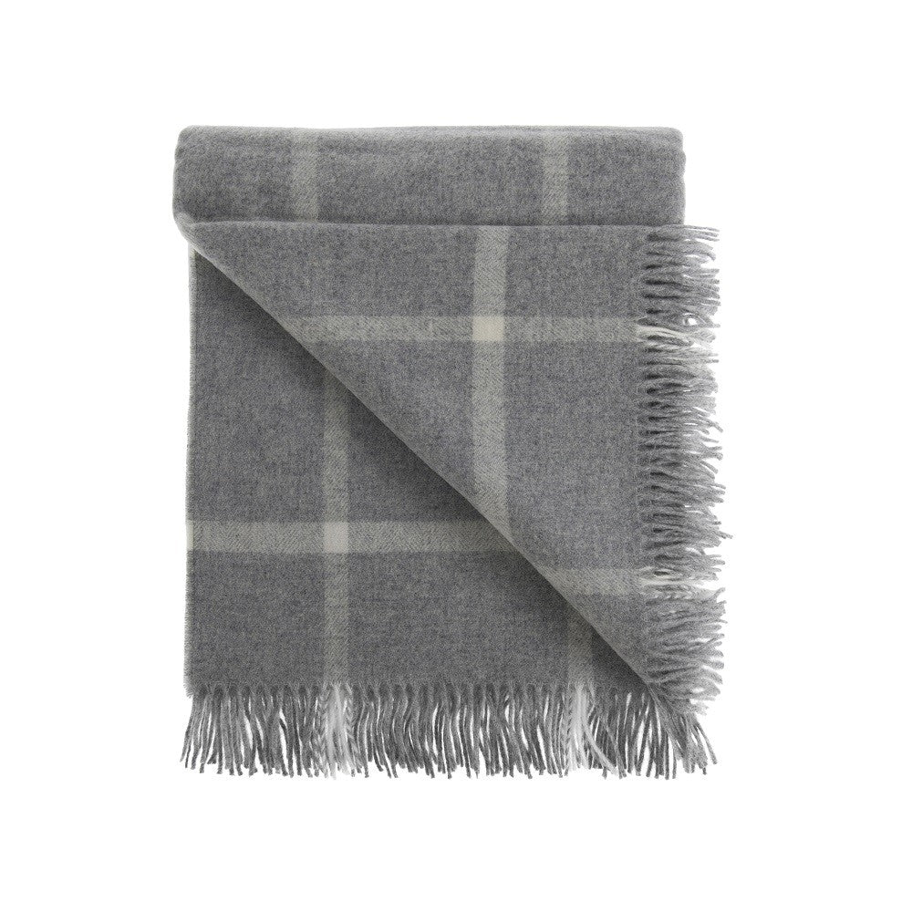 Lambswool Windowpane Throw