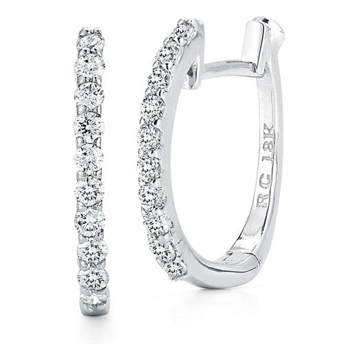 Roberto Coin Diamond Baby Hoop Earrings 000466AWERX0