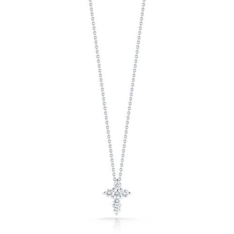 Roberto Coin Tiny Treasures Large Diamond Cross Necklace 001154AWCHX0