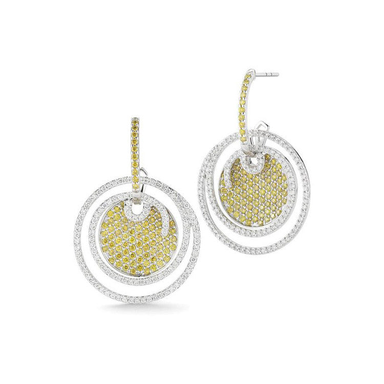 ALOR Black Label White & Yellow Diamond Earrings 03-08-BL10-32