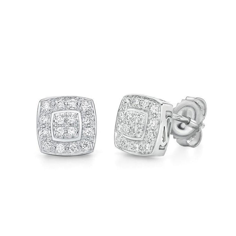 3d72e398bb8 ALOR Classique 18K White Gold Diamond Earrings 03-28-9504-11