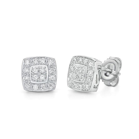 ALOR Classique 18K White Goild Diamond Stud Earrings 03-28-9504-11