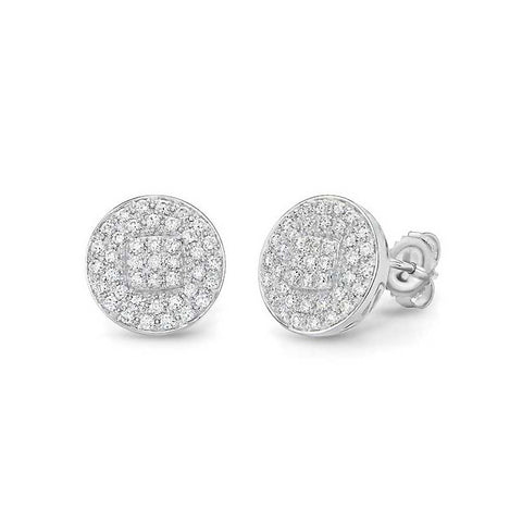 ALOR Classique 18K White Gold Diamond Stud Earrings 03-28-9602-11
