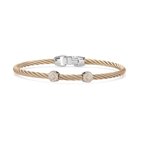 ALOR Autumn Hues 18K White & Rose Gold Diamond Bracelet 04-26-S922-11