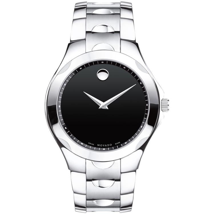 Movado Luno Sport Black Museum Dial Swiss Quartz Men's Watch 0606378
