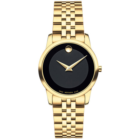 Movado Museum Classic 28mm Gold PVD Stainless Steel Bracelet Swiss Quartz Women's Watch 0607005