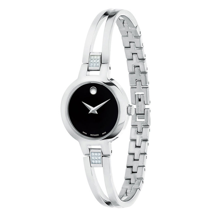 Movado Amorosa 24MM Museum Dial bangle-style Women's Watch 0607154