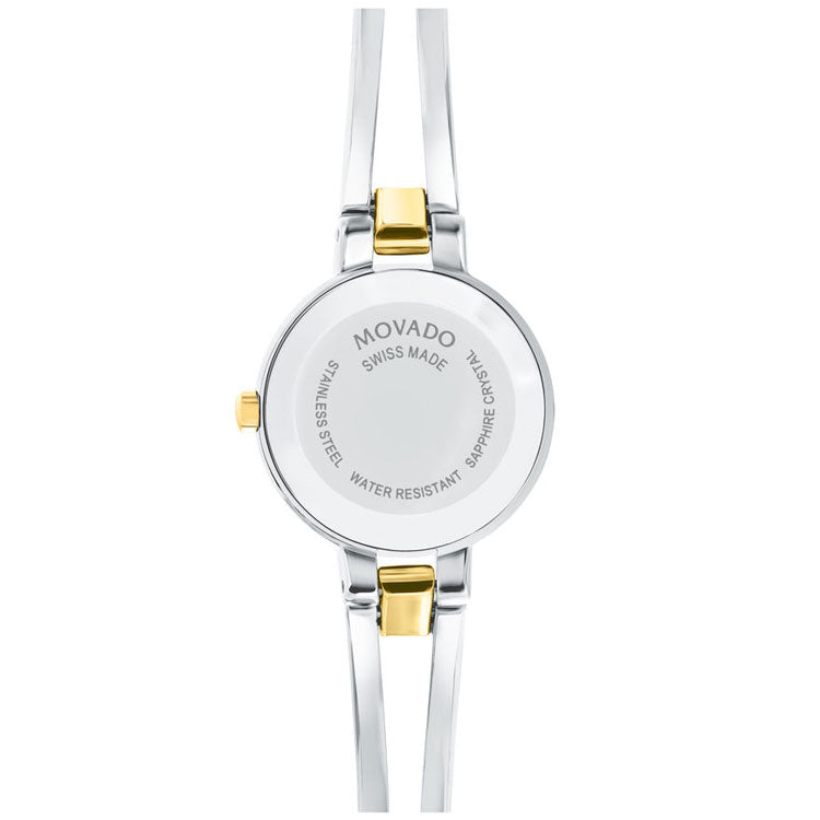 Movado Amorosa Stainless Steel and Yellow Gold PVD Women's Watch 0607184