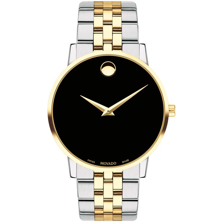 Movado Men's Museum Classic 40 mm Steel and Yellow Gold PVD-finished Watch 0607200